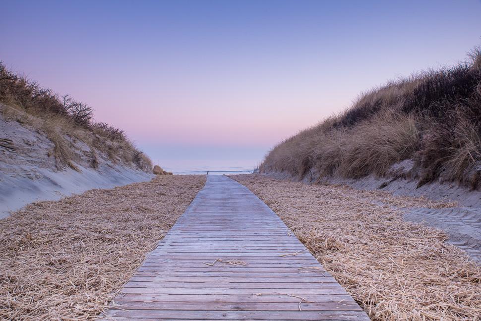 Strandzugang auf Juist im Morgenlicht
