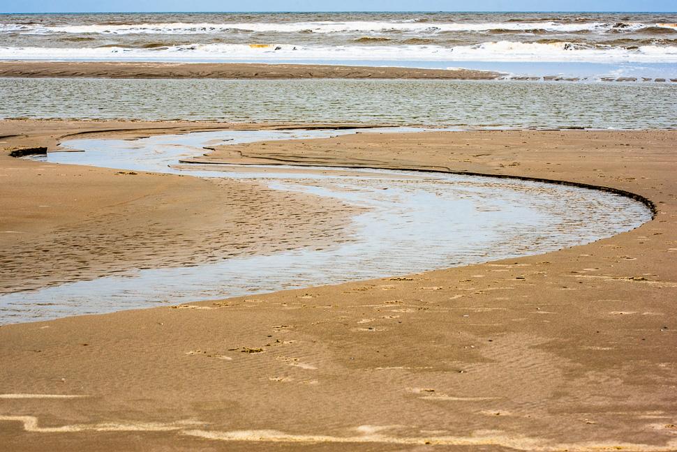 Priel am Strand auf Juist