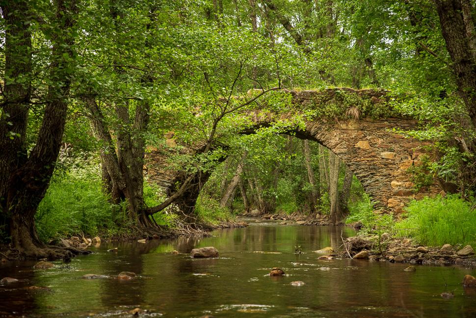 alte Steinbrücke über den Rio Almonte