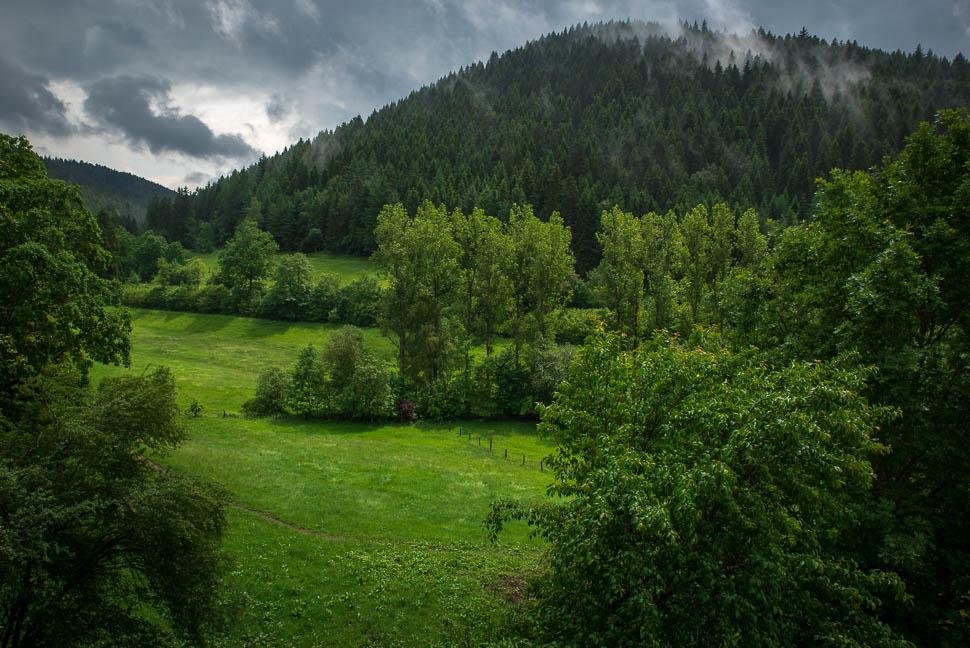 Regenwolken über dem Schwarzwald